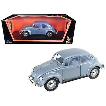1967 Volkswagen Beetle Light Blue 1/18 Diecast Model Car by Road Signature