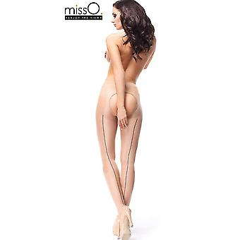 Miss O Seamed Open Gusset Pantyhose