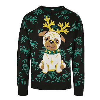 Urban Classics Herren Sweatshirt Pug Christmas