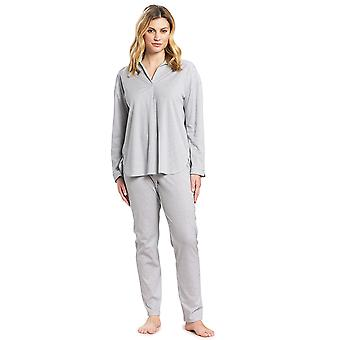 Féraud 3191057-12560 Women's High Class Minimal Blue Cotton Pyjama Set