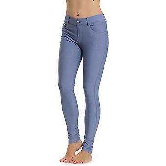 Prolific Health Women's Jean Look Jeggings Tights Yoga, Slate Grey, Size Medium