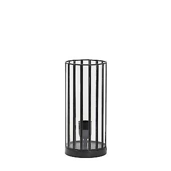 Light & Living Table Lamp 15x30cm Stroby Antique Black And Glass