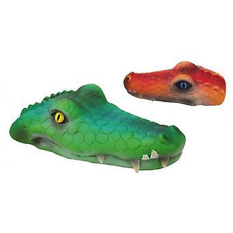 Creaciones Gloria Latex crocodile S 13 * 6 * 6 cm (Green, Yellow, Red and Purple)