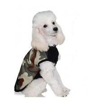 Yagu Layered Green Coat in Camouflage von Yagu (Hunde , Kleidung , Mäntel und Kappen)