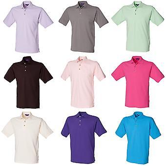 Henbury Mens Classic Plain Polo Shirt avec col montant