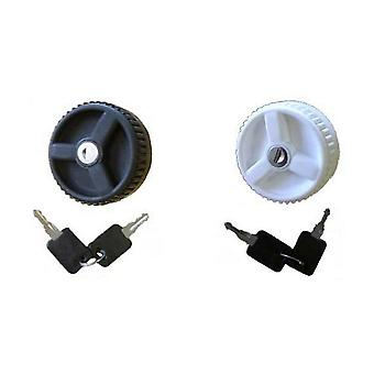 Water Inlet Locking Cap With Two Keys