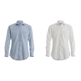 Kustom Kit Mens Premium Non-Iron Slim Fit Long Sleeved Shirt