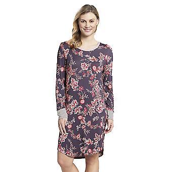 Rösch 1193529-16401 Frauen's neue Romantik lila gefleckt Floral Baumwolle Nachthemd