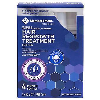 Member's Mark Minoxidil 5% Foam Hair Regrowth Treatment (2.11 oz., 4 ct.)