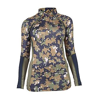 Shires Aubrion Newbury Womens Long Sleeve Base Layer - Camo