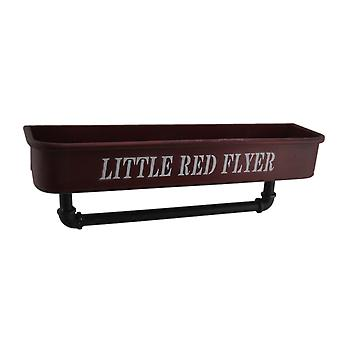 Little Red Flyer Metal Container Shelf with Industrial Pipe Towel Holder