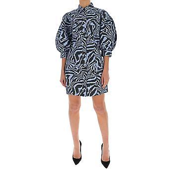 Ganni F4329681 Women's Blue Cotton Dress