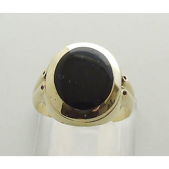 Christian 14 carat gold ring with onyx