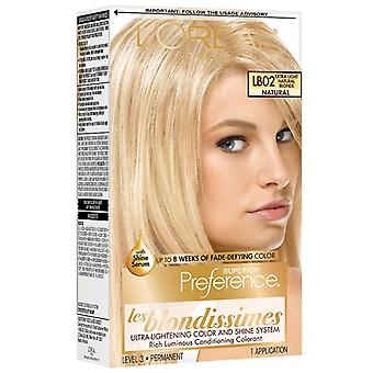 L'oreal paris superior preference hair color, natural blonde lb02, 1 kit