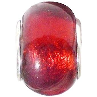 Toc Beadz Red 9mm Glass Slide-On and Slide-Off Bead