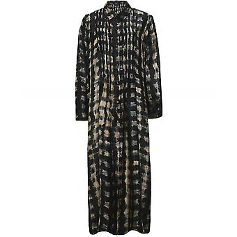Yavi Audric Silk Tie-Dye Shirt Dress
