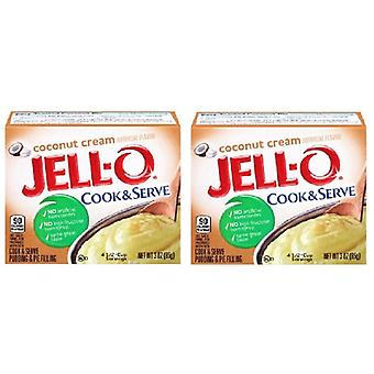 Jell-O Coconut Cream Cook & Serveer Pudding en Pie Filling 2 Pack