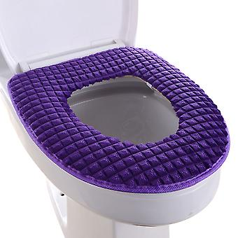 Bathroom toilet mat with zipper, winter toilet cover