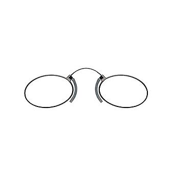 nose reader reading glasses oval green thickness +3.00