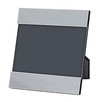 Orton West Double Edge Square Photo Frame 3x6 - Silver