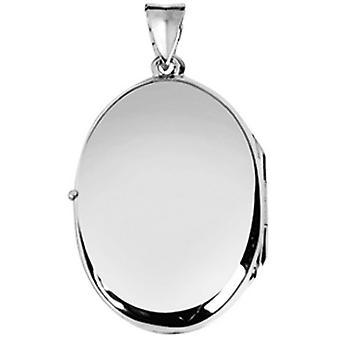 Orton West grote vlakte medaillon - zilver