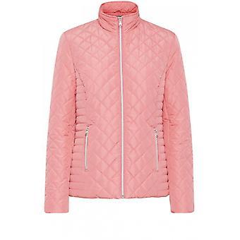 b.young Růžová prošívaná bunda