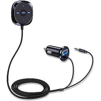 Vivo Y3 Standard Black Bluetooth Stereo Car Kit BC20 With USB Charger