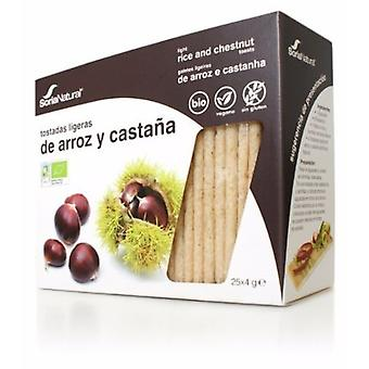 Soria Natural Rice and Chestnut Toast 25 units