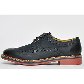 Ikon Classic Barley Leather Brogue Navy