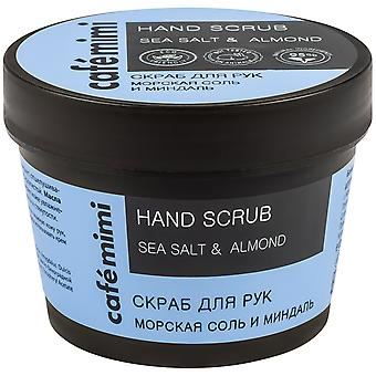Cafe Mimi Sea salt and almond hand scrub 120 gr