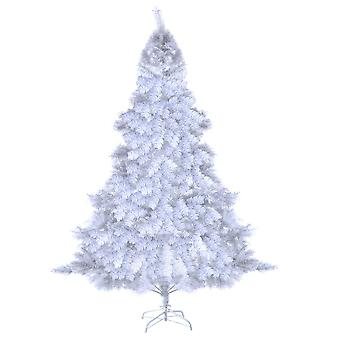 8FT 2.4M Christmas Xmas Tree Hausen Traditional White Indoor Artificial Trees Decoration