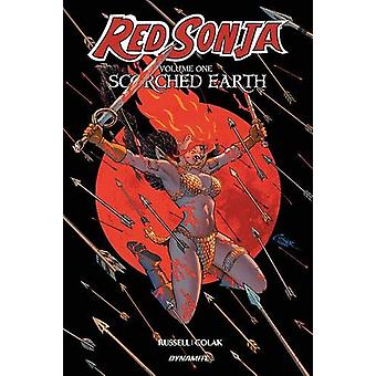 Red Sonja Volume 1 - Scorched Earth by Mark Russell - 9781524112769 Bo