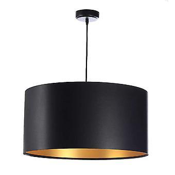 Lampe pendentif Feliza Latex noir & or x 40 cm 10965