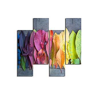 Schilderij Veelkleurige Monifa in MDF, L19xP0.3xA50 cm (4 stuks)