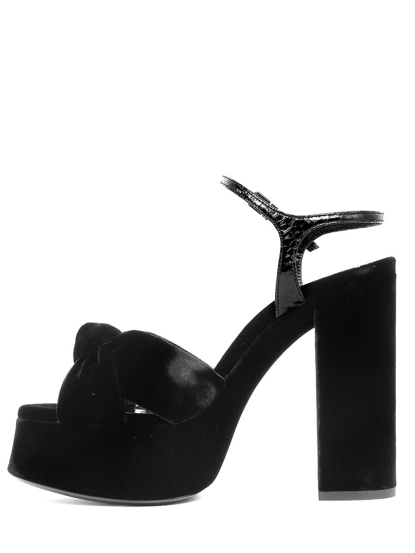 Saint Laurent 630630l0l701000 Women's Black Leather Sandals jXodxI