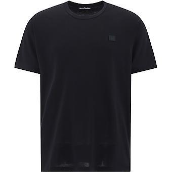 Acne Studios 25e173Nero Uomini's Nero Cotone T-shirt