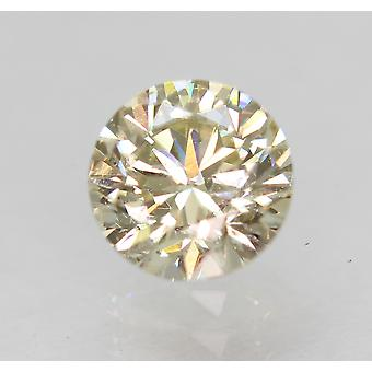 Cert 0.51 Carat Light Yellow VVS2 Round Brilliant Enhanced Natural Diamond 4.97m