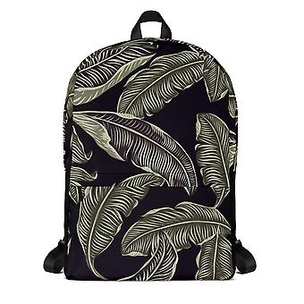 Backpack | grey leaves