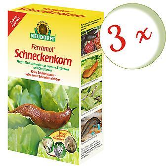 Sparset: 3 × نيودورف فيرامول® حبة الحلزون، 2 كجم