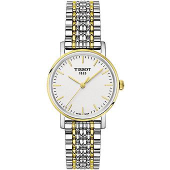 Tissot Watches T109.210.22.031.00 Everytime Stainless Steel Silver And Gold Ladies Watch