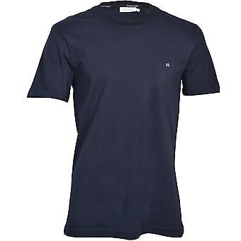 Calvin Klein Brodert Logo Crew-Hals T-skjorte, Calvin Navy