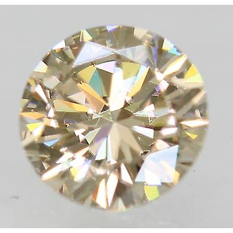 Cert 0.50 Carat Top Light Brown VVS1 Round Brilliant Natural Diamond 5.1mm 3EX