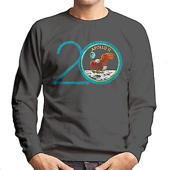 La NASA Apollo 11 20e anniversaire Badge en difficulté Sweatshirt masculine