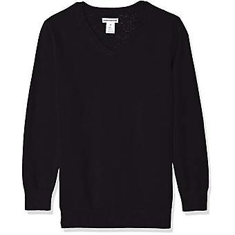 Essentials Big Boys' Uniform V-Neck Pullover, schwarze Schönheit, L
