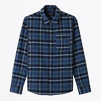 A.P.C.  - Trek - Wool Checked Shirt - Blue