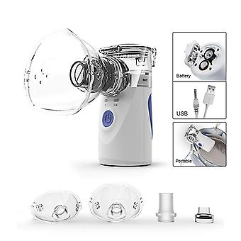 Mini Handheld / Portable Mesh Nebulizer - Silent Ultrasonic Medical Steaming Inhaler For Kids/adults