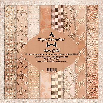 Dixi Craft Rose Gold 6x6 Inch Paper Pack