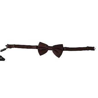 Dolce & Gabbana Bordeaux Brown Silk Adjustable Neck Butterfly Bow Tie -- FT20318704