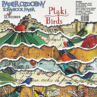 Decorer Birds 12x12 Inch Paper Pack
