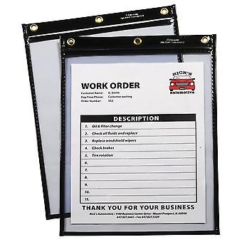 50912, Heavy Duty Super Heavyweight Plus Stitched Shop Ticket Holder, Noir, 9x12, 50912